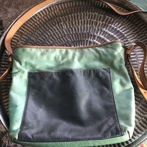 Fossil brand purse handbag light turquoise & blue